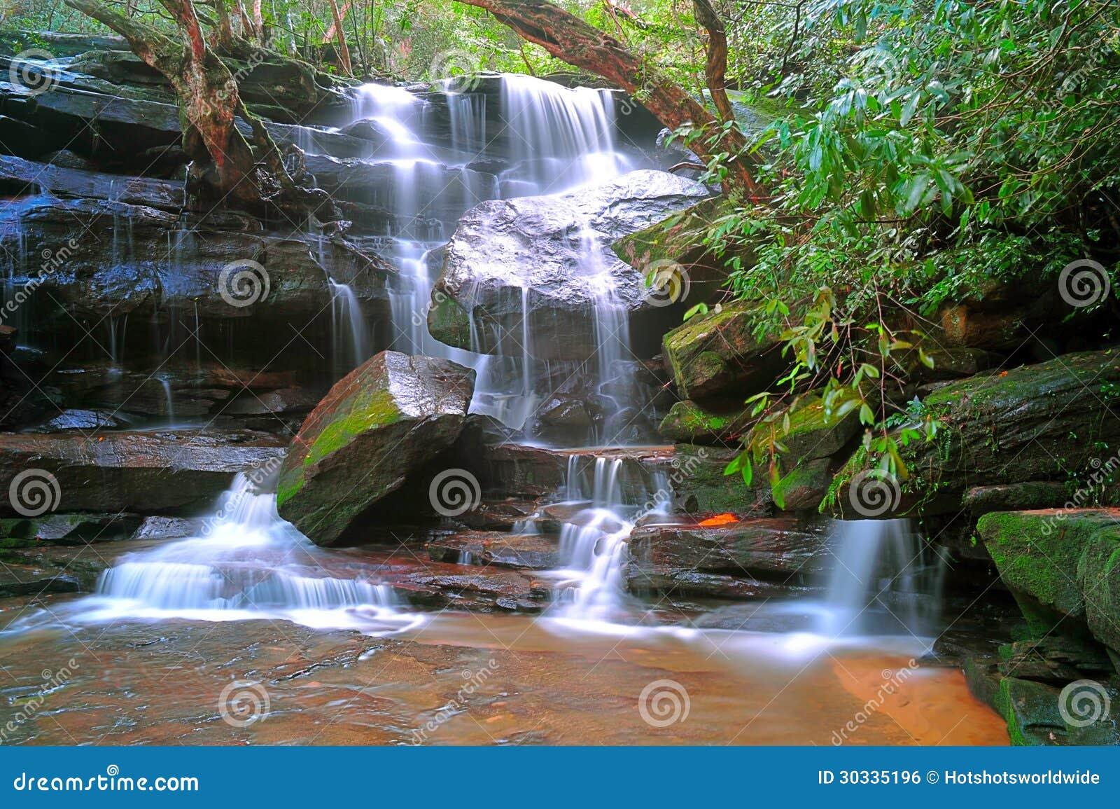 Somersby下跌,澳大利亚瀑布,新南威尔斯,澳大利亚