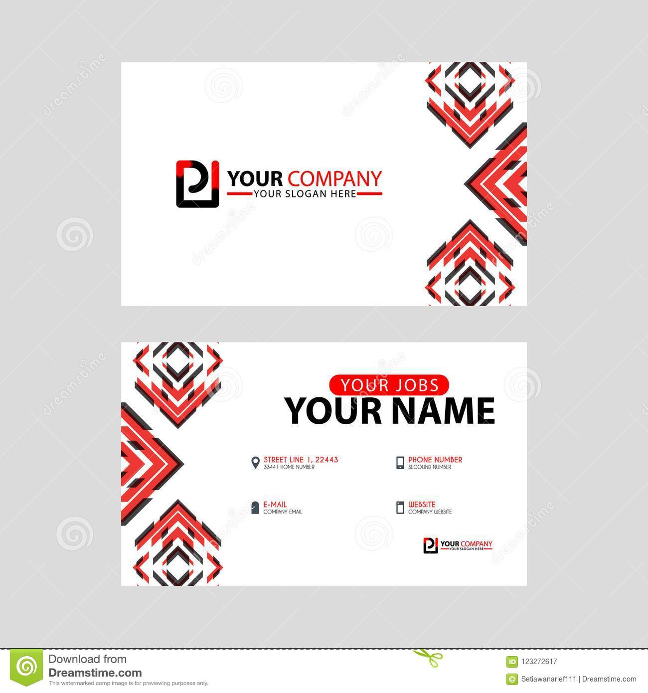 Modern Business Card Templates With PI Logo Letter And Horizontal - Logo layout templates