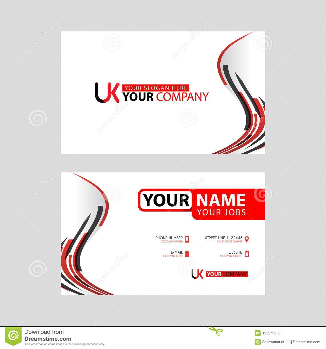The new simple business card is red black with the uk logo letter download the new simple business card is red black with the uk logo letter bonus and reheart Image collections