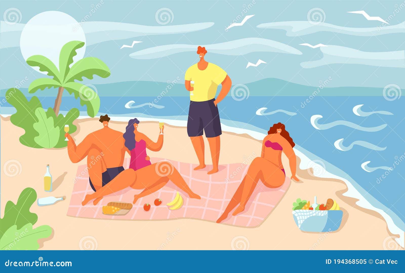 Roliga Tecknade Sommarbilder