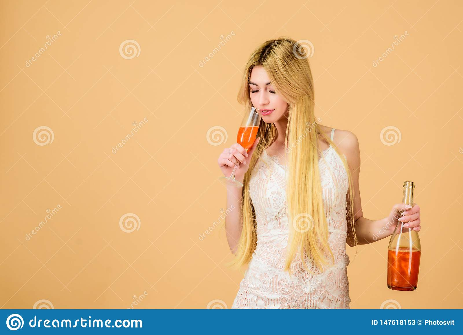 Sommelier woman at work. Drinking brandy. hangover. Party celebration. Bad habit. sexy woman drink alcohol. wedding and