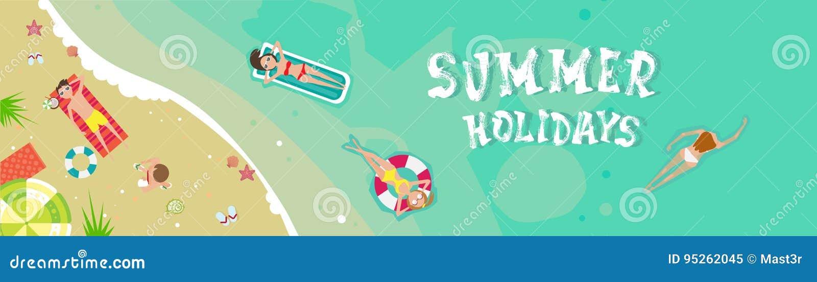 Sommer-Strand-Ferien-Küsten-Sand-tropische Feiertags-Fahne