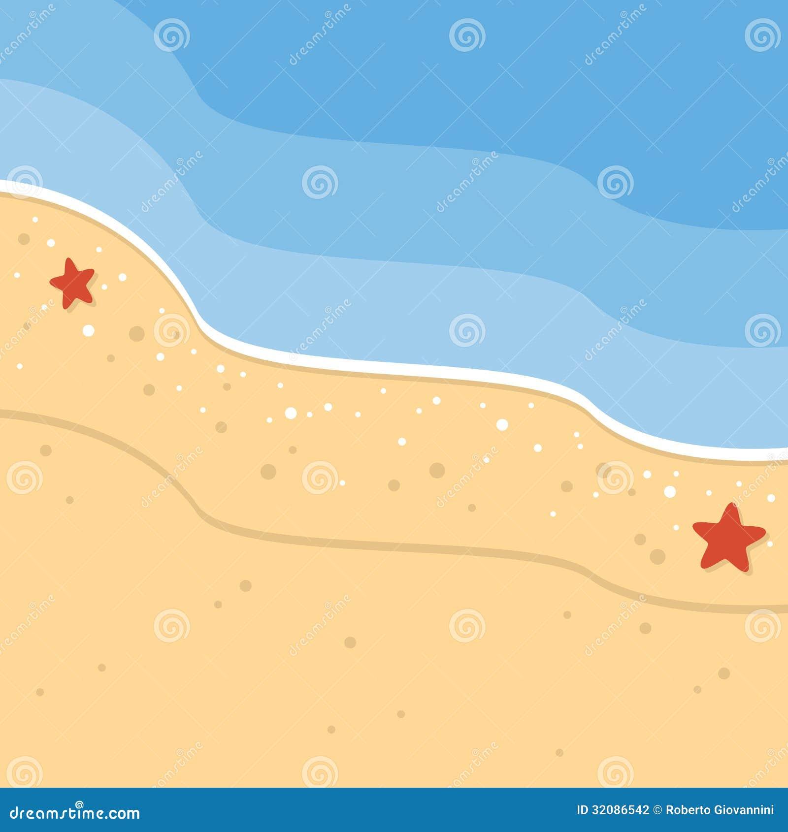 Sommer-tropischer Strand-Hintergrund