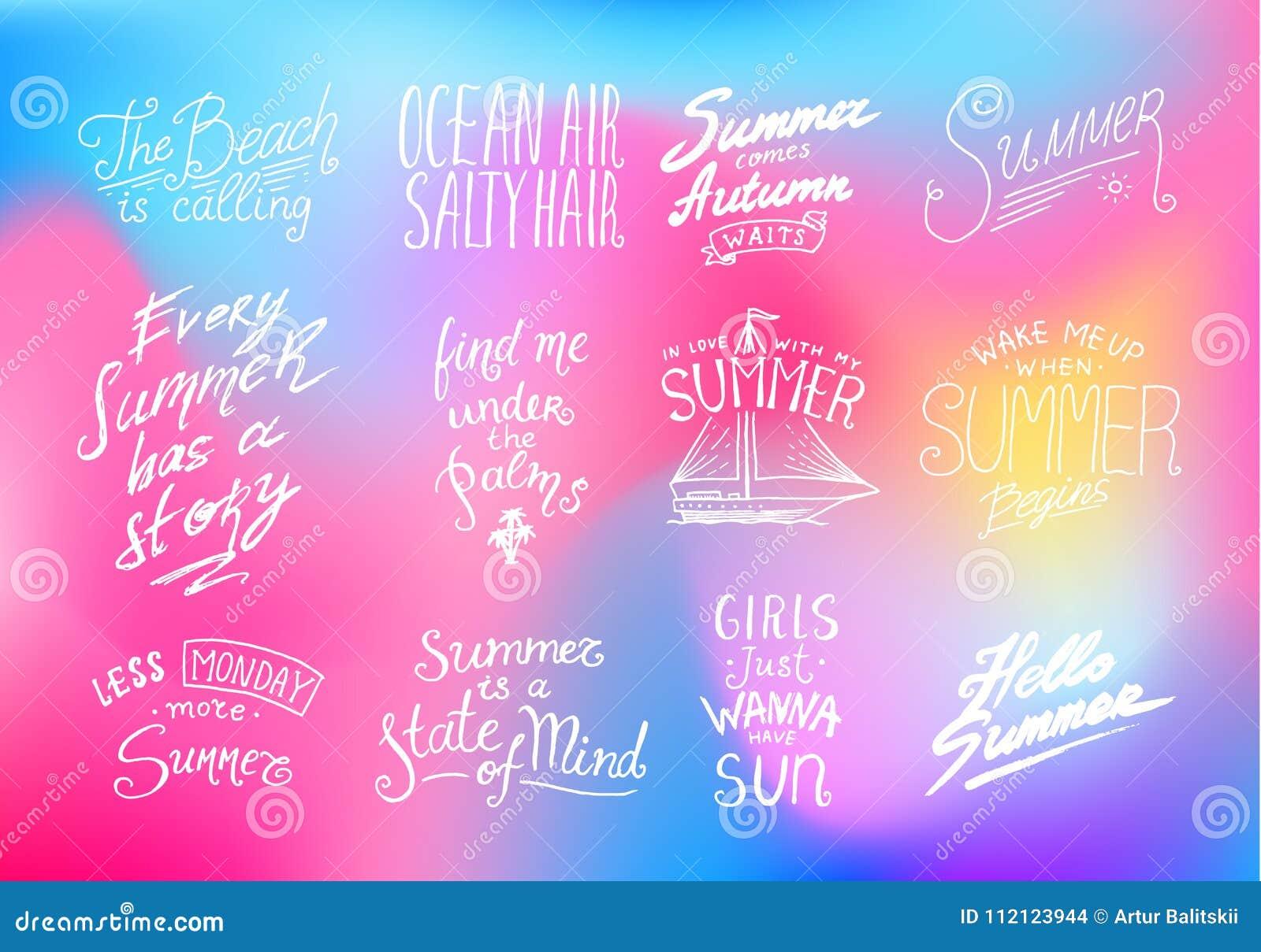 Sommer Zitiert Inspirations-, Reise- Und Reisephrasen ...