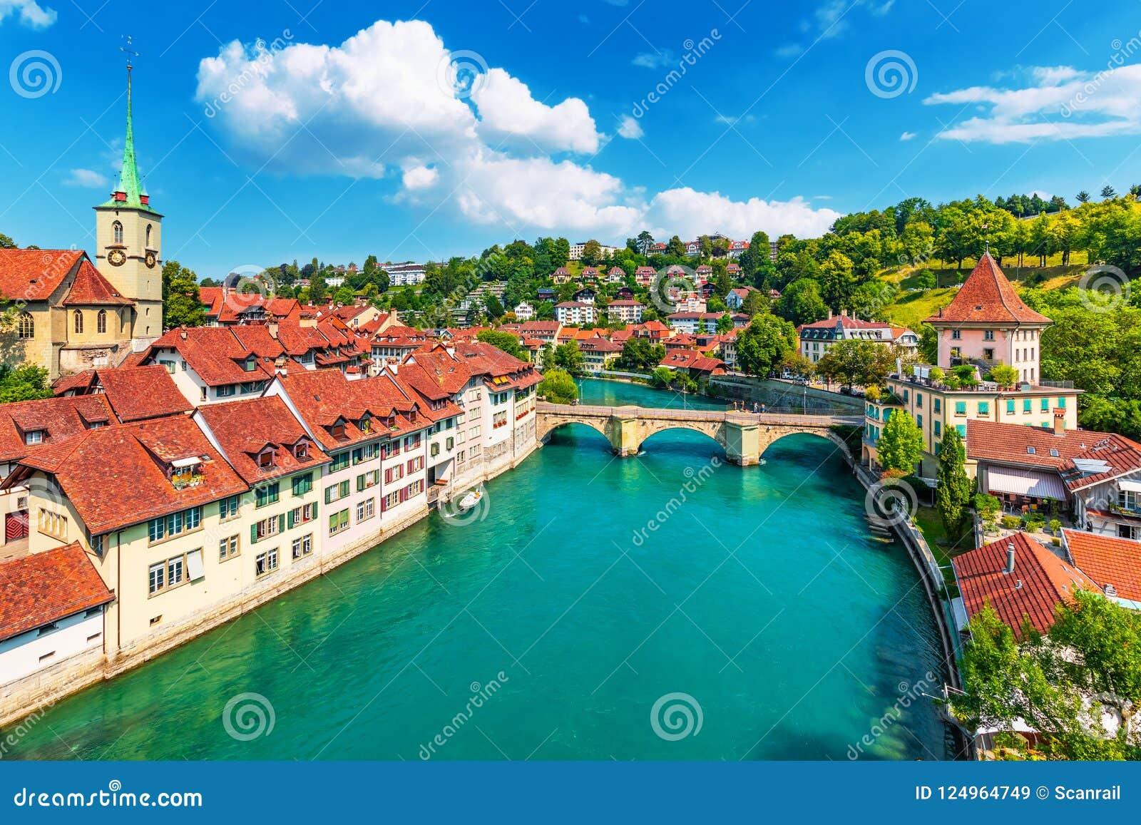 Sommeransicht von Bern, die Schweiz