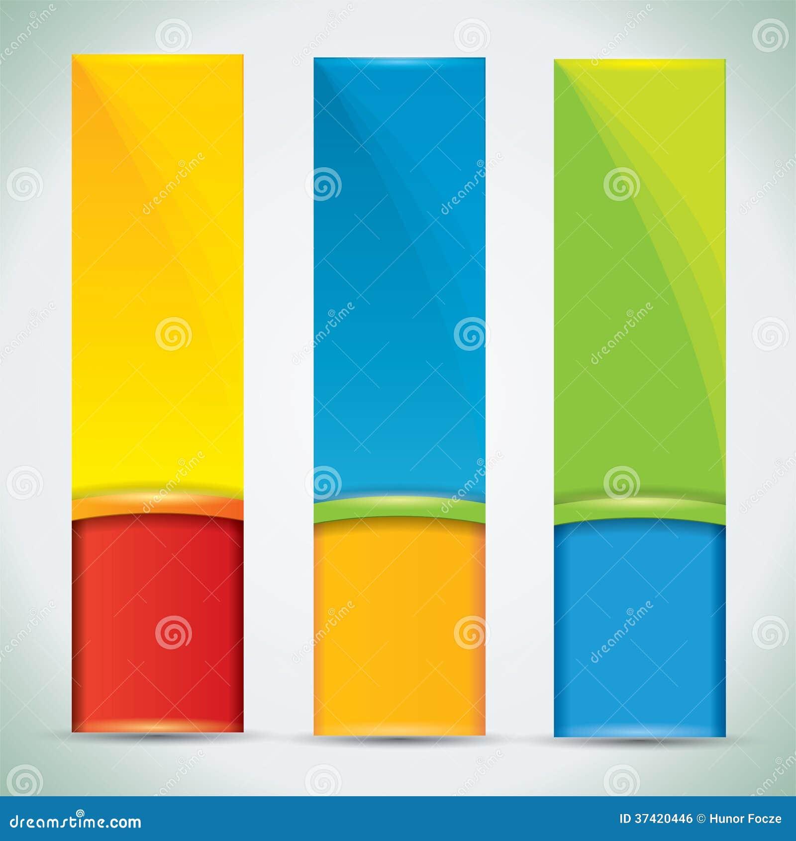 Sommerfahnen mit vibrierenden Farben