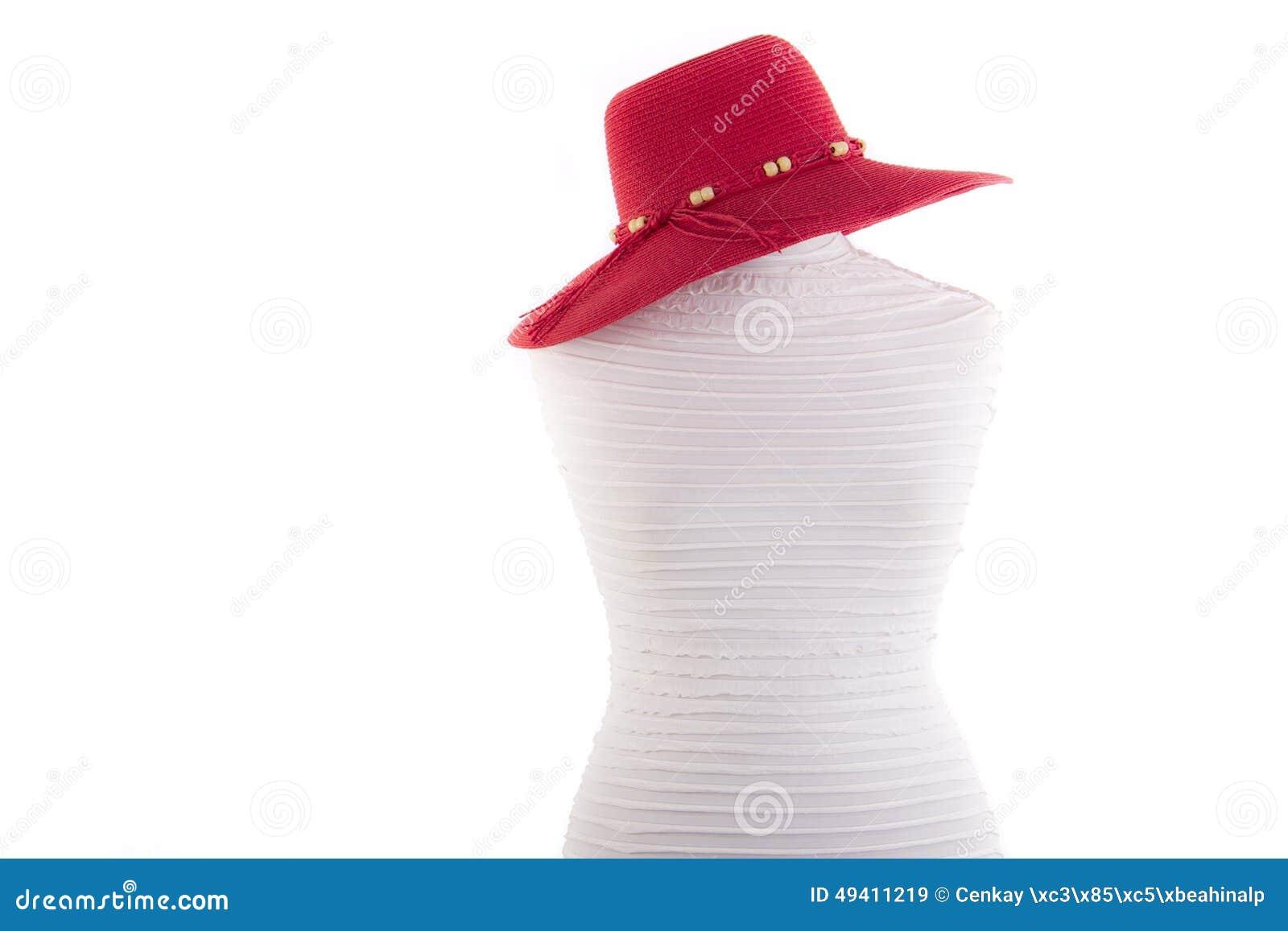 Download Sommerhut auf Mannequin stockbild. Bild von schönheit - 49411219