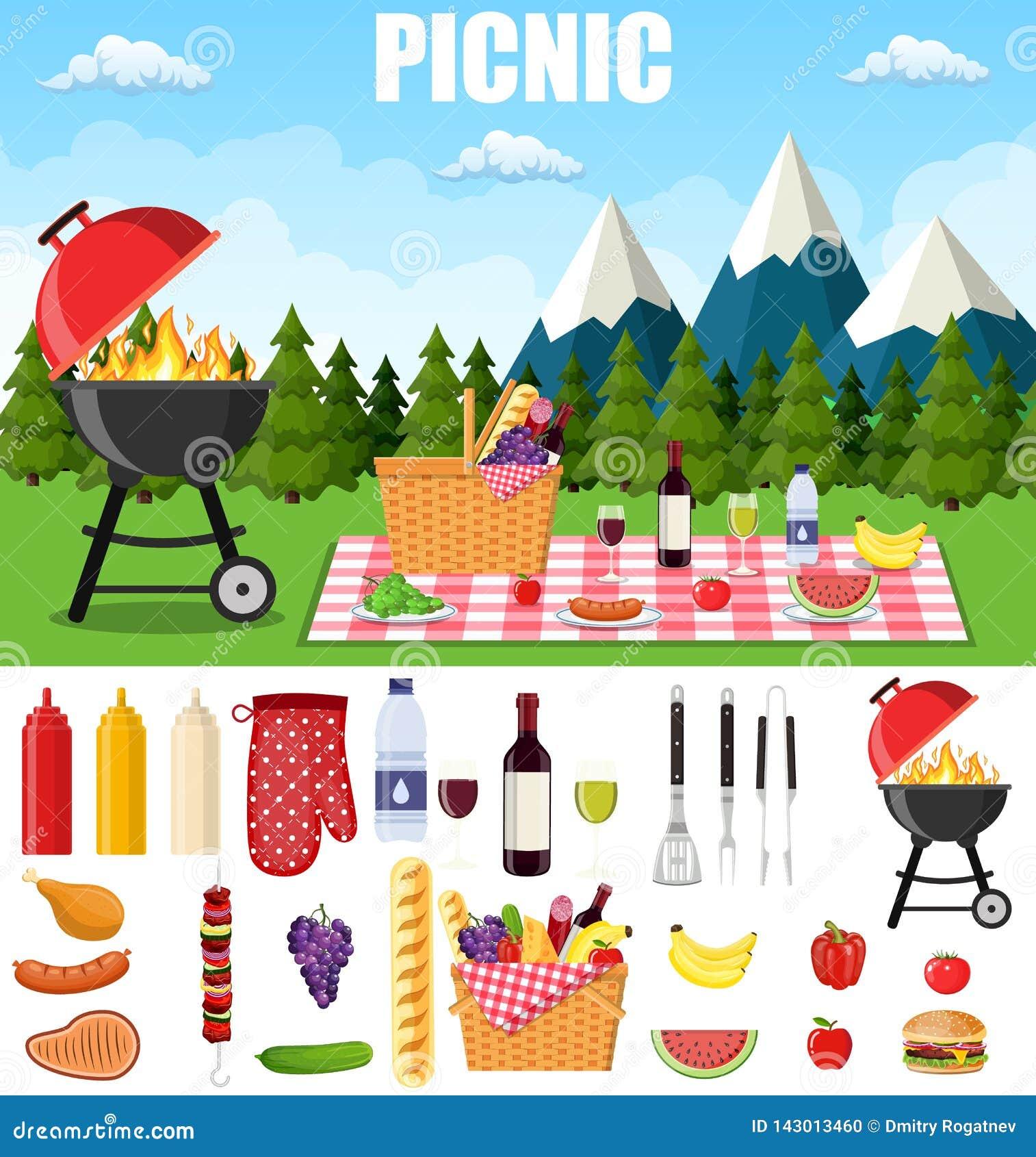 Sommerpicknick in den Bergen