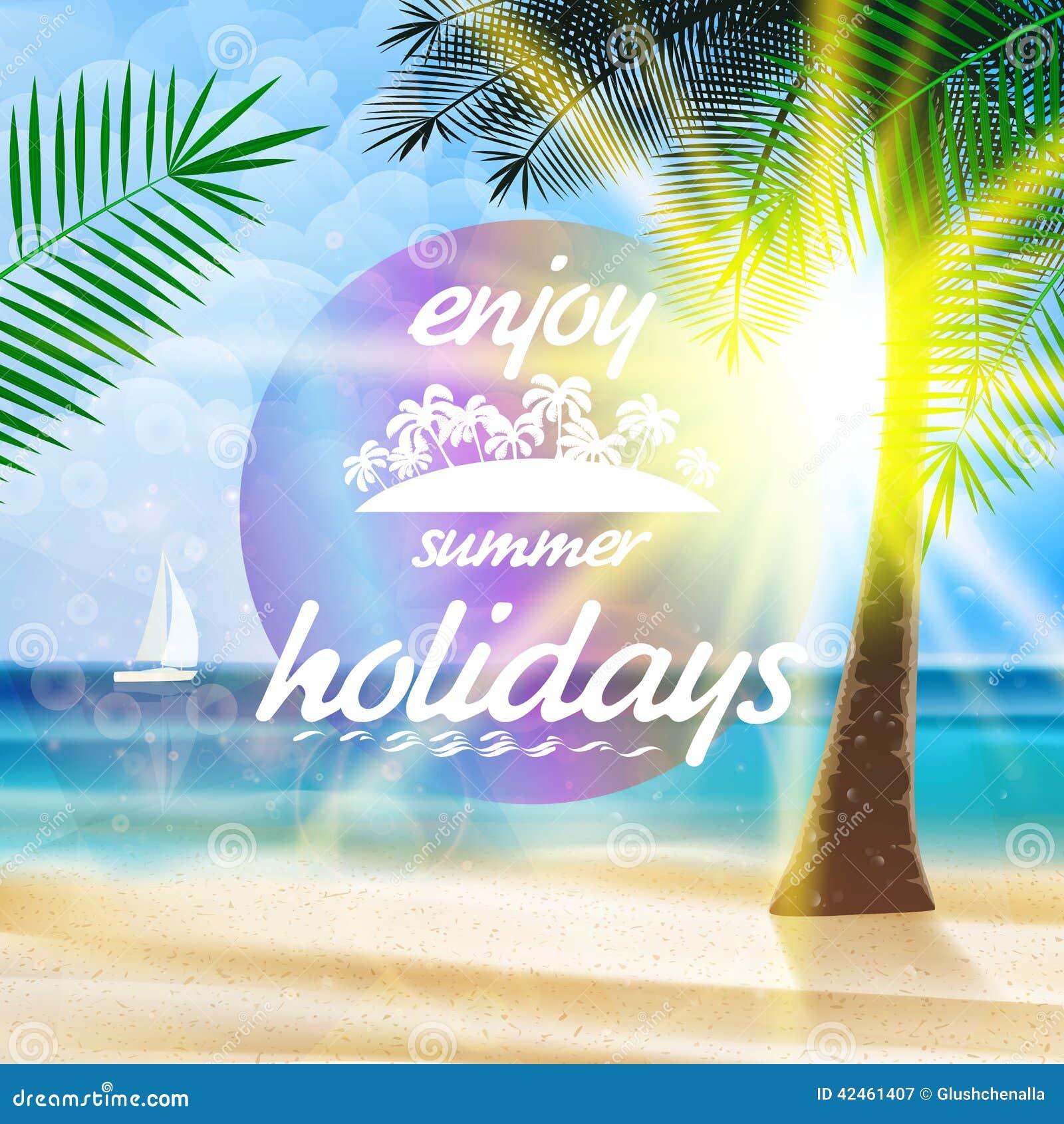 Sommertypographie-Feiertagsschablone
