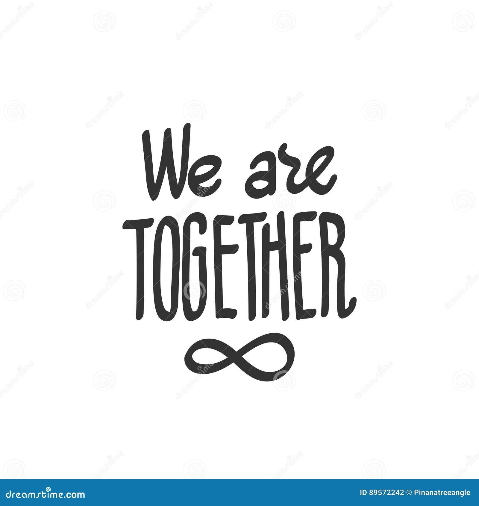 Somos Juntos Símbolo Del Infinito Stock De Ilustración