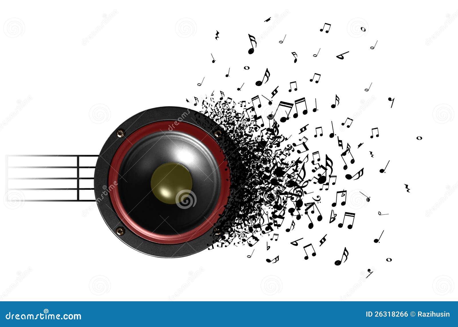 Son de la musique du haut parleur illustration stock for Haut parleur exterieur