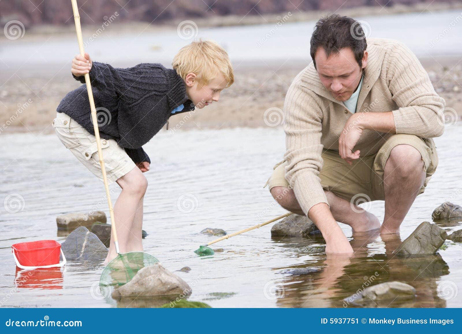 Son för strandfaderfiske