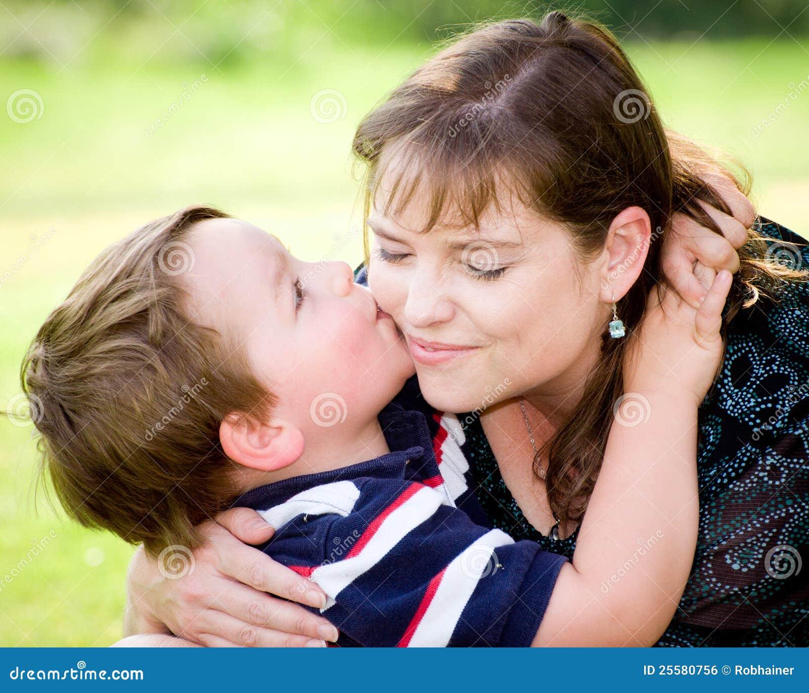Son Kissing Mother Stock Photo Image Of Kiss Joyful