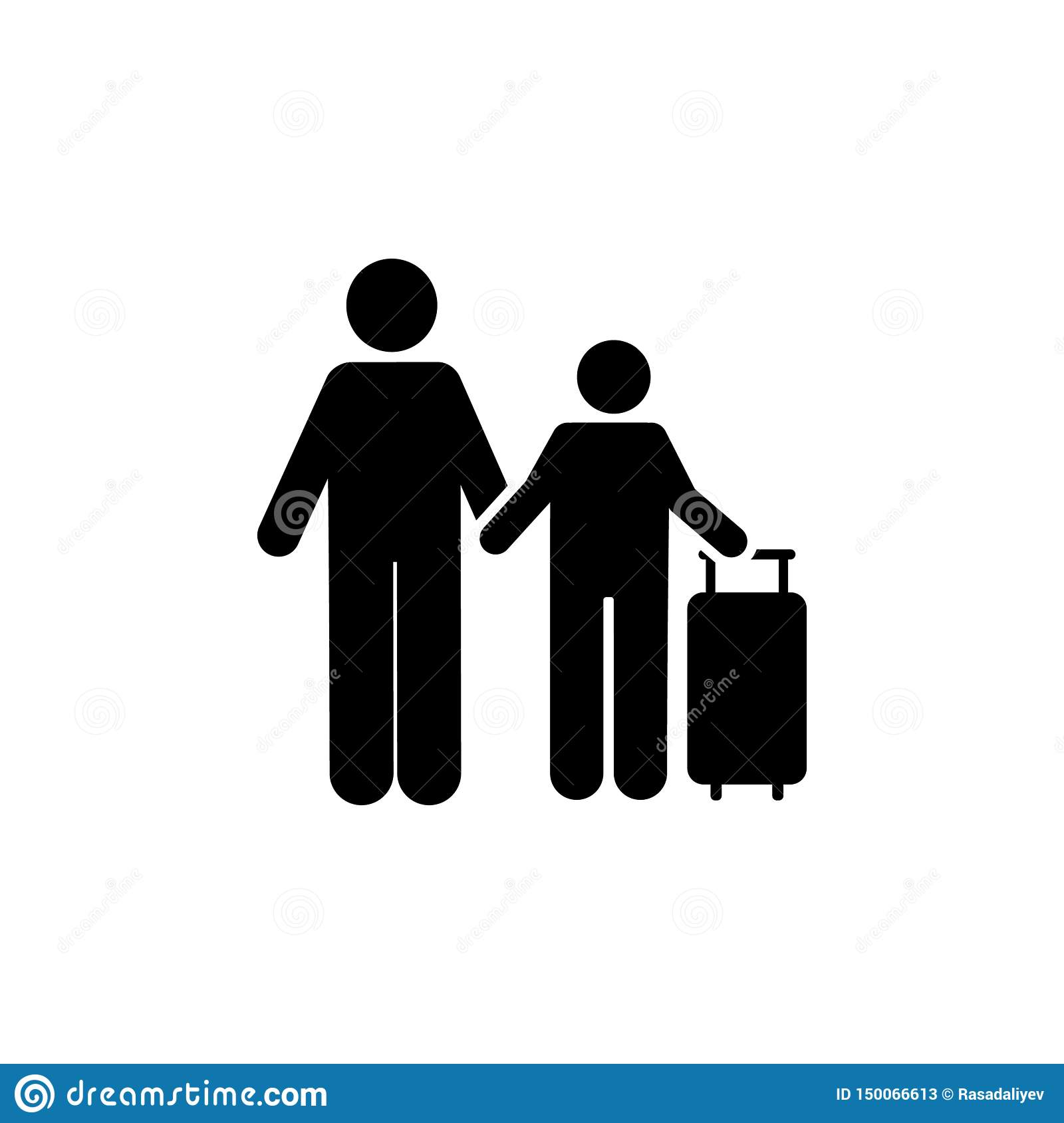 Son, man, travel, hotel icon. Element of hotel pictogram icon. Premium quality graphic design icon. Signs and symbols collection