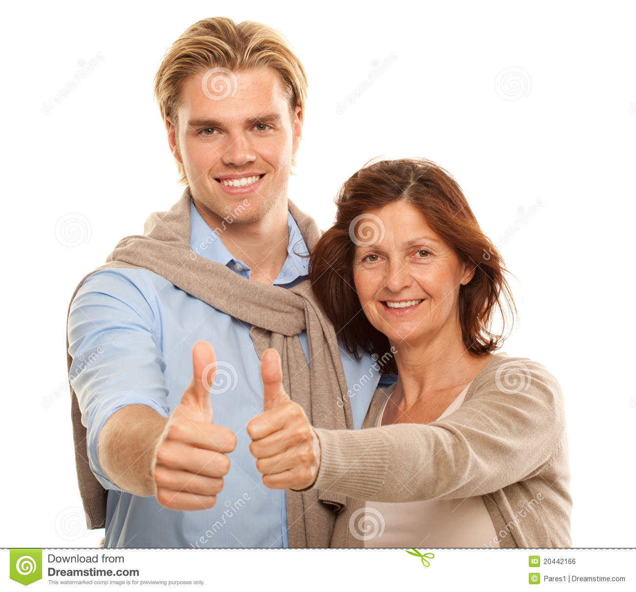 Happy Couple Sitting On Sandy Beach Embracing Kissing: Son And Mother Stock Photo. Image Of Beauty, Present