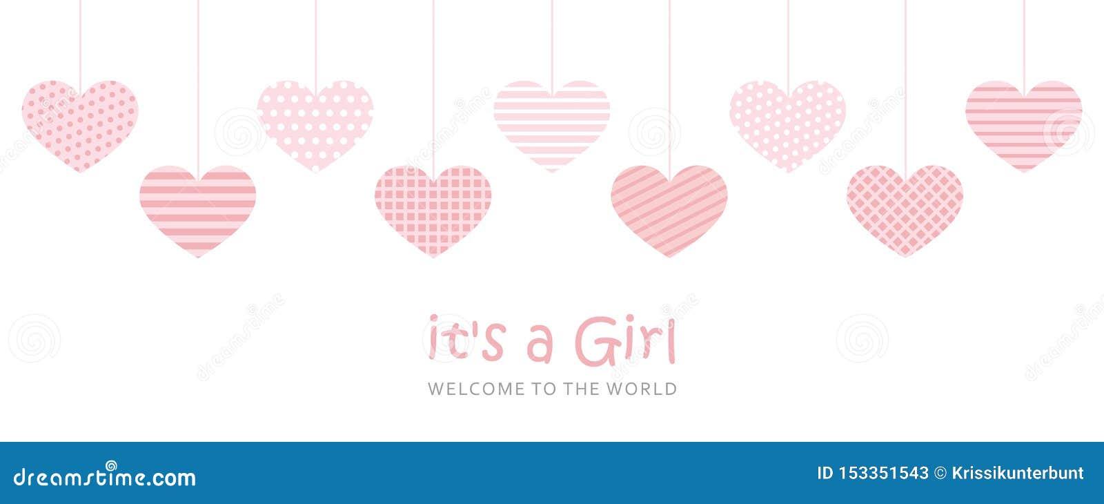 Son une carte de voeux d accueil de fille pour l accouchement