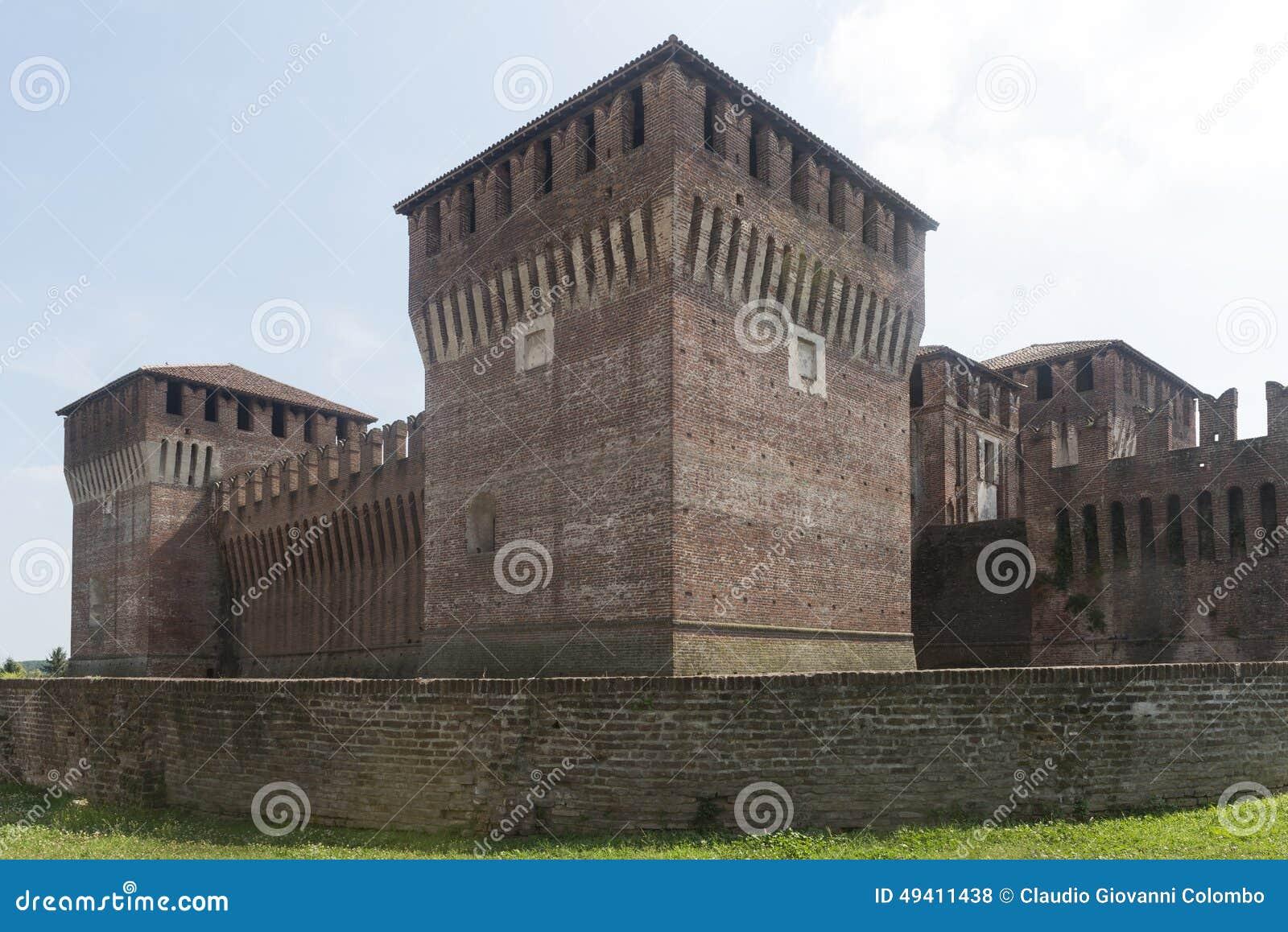 Download Soncino (Cremona, Italien) stockfoto. Bild von outdoor - 49411438