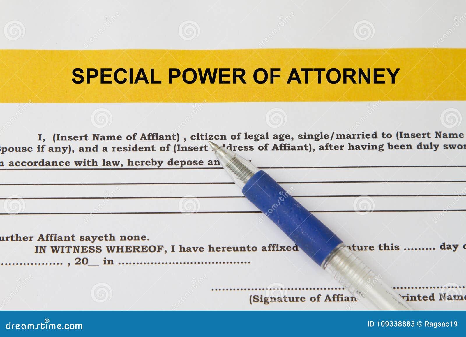 Sondervollmacht Konzept stockbild. Bild von rechtsanwalt - 109338883