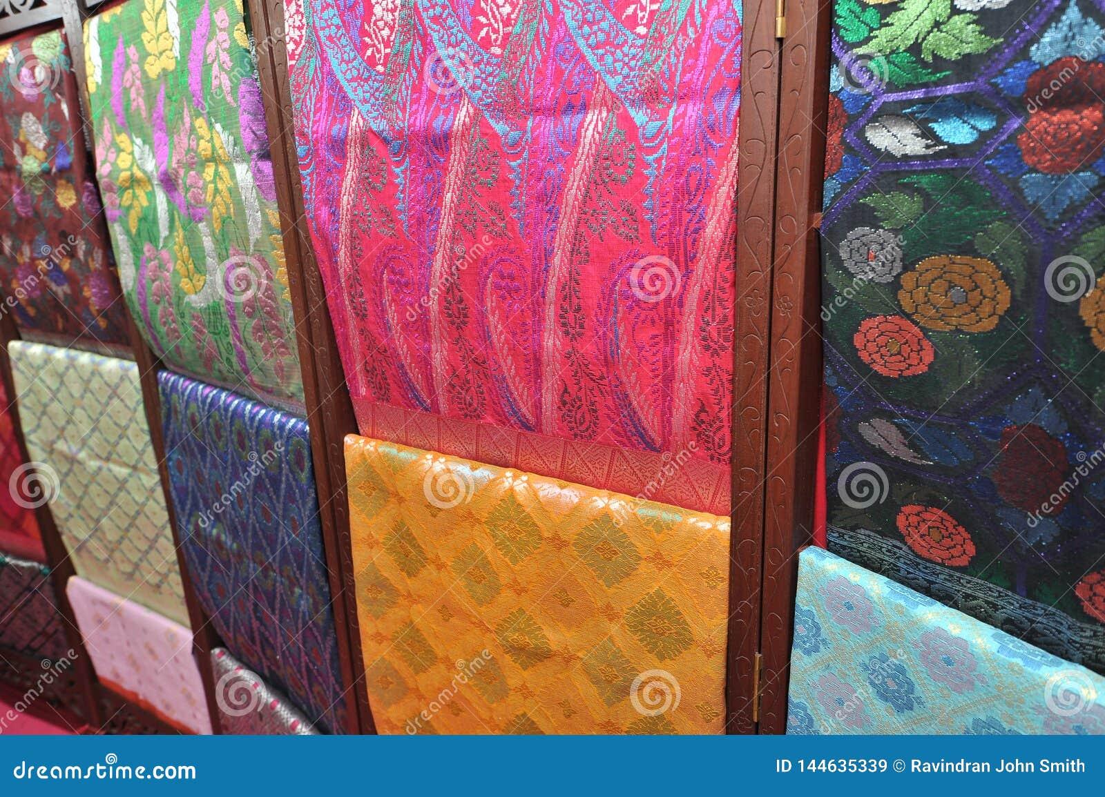 Songket textiles stock image  Image of brunei, world - 144635339