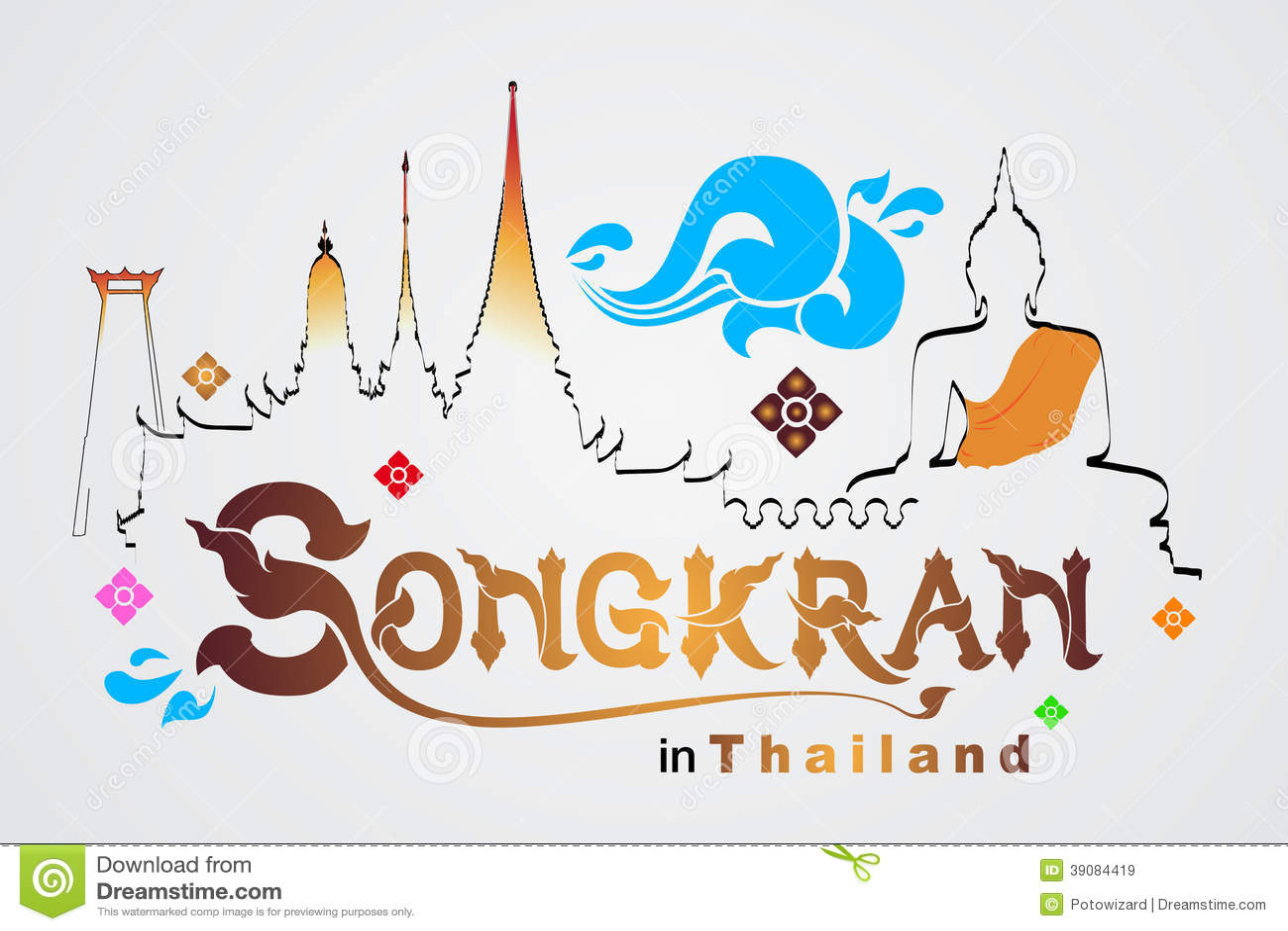 Songkran festival in thailand stock vector illustration of songkran festival in thailand kristyandbryce Choice Image