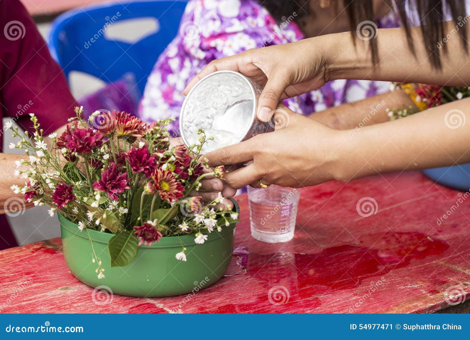 Songkran-Zeremonie, thailändisches neues Jahr