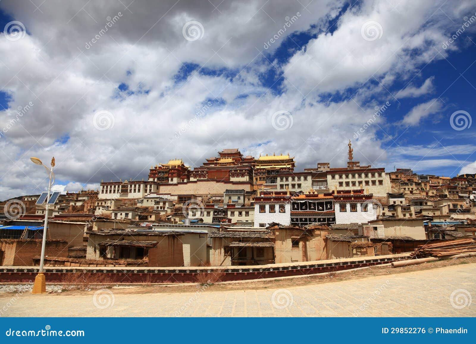 Songzanlin kloster i Zhongdian, Kina