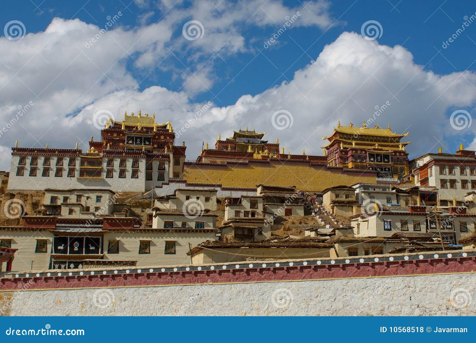 Songzanlin tibetan kloster, shangri-la, porslin