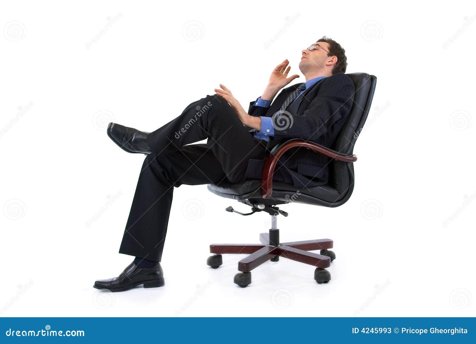 Sonhando o homem de negócios