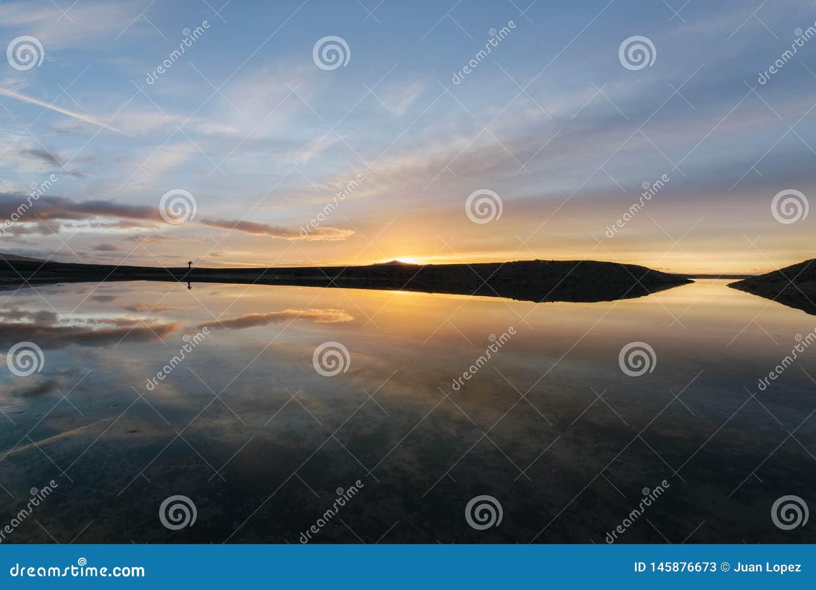 Sonnenaufgang auf dem Reservoir