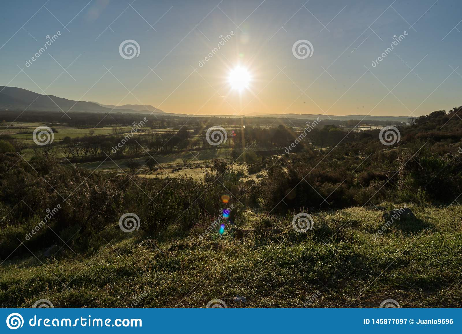 Sonnenaufgang auf dem Tal