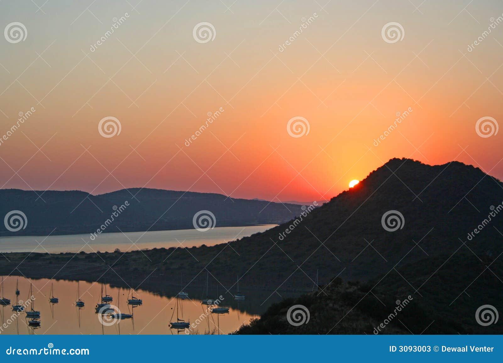 Sonnenaufgang bei Gariep