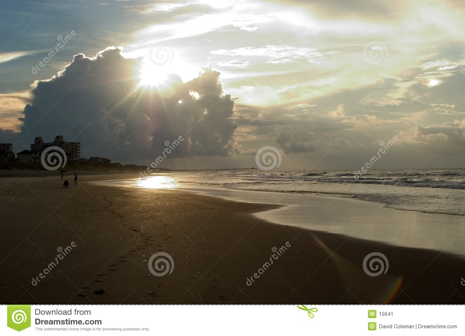 Sonnenaufgang, Emerald Isle, Nord-Carolina