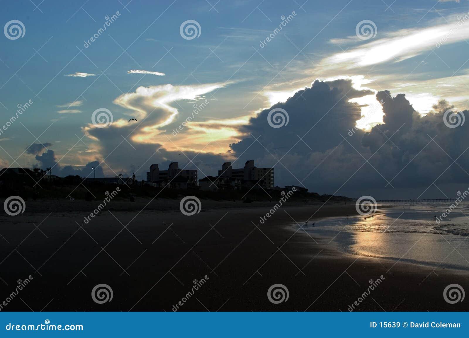 Sonnenaufgang Nord-Carolina in den äußeren Banken