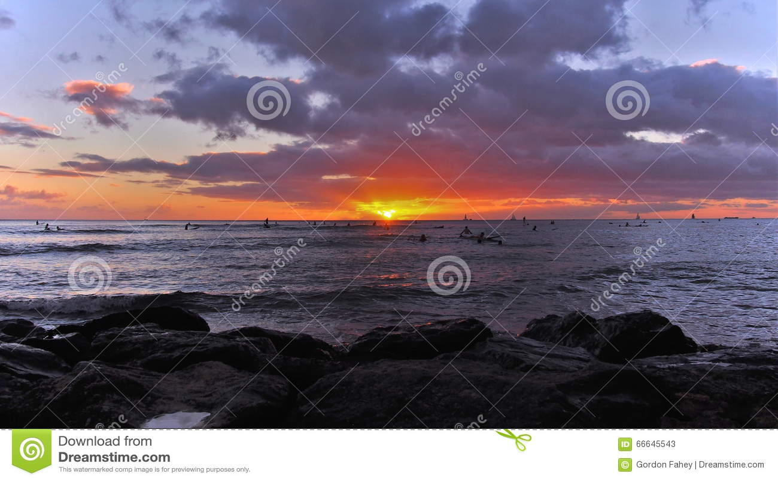 Sonnenaufgang Waikiki
