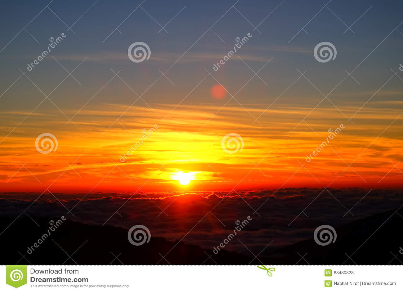 Sonnenaufgangansicht von Thailand