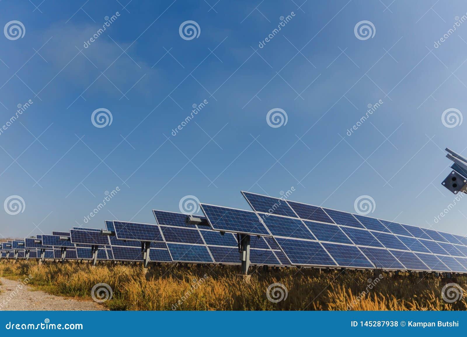 Sonnenkollektor, alternative Stromquelle - Konzept von st?tzbaren Betriebsmitteln und dieses ist ein neues System, das erzeugen k