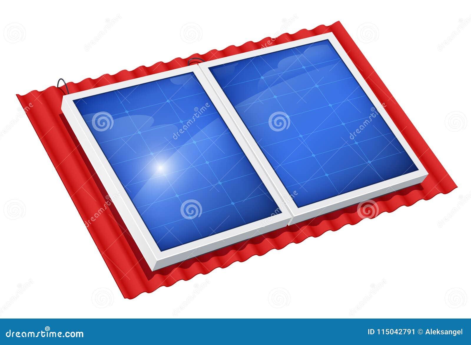 Sonnenkollektor für alternative Energie Ökologisches System
