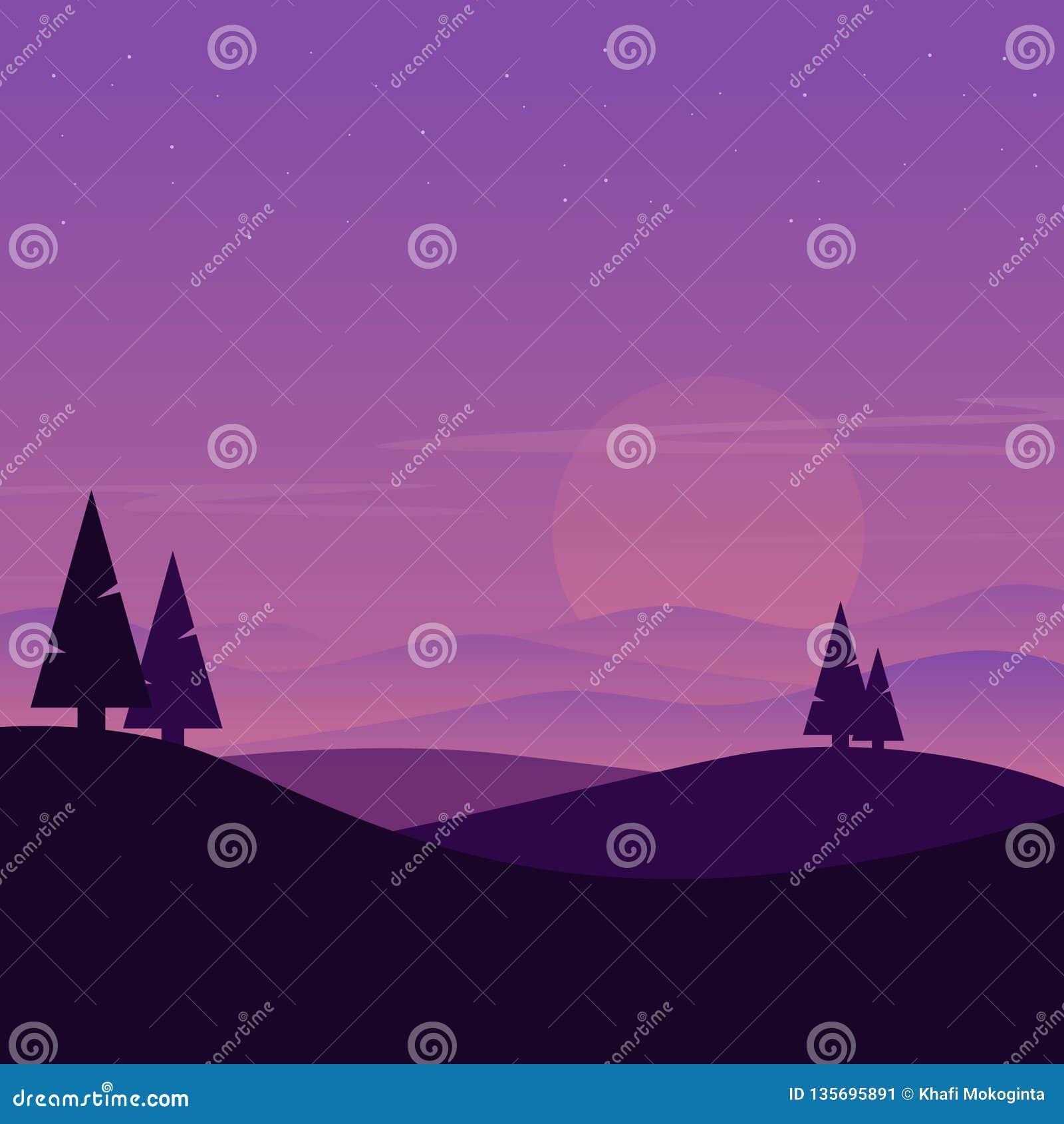 Sonnenlicht des Hügellandschaftsschattenbildes