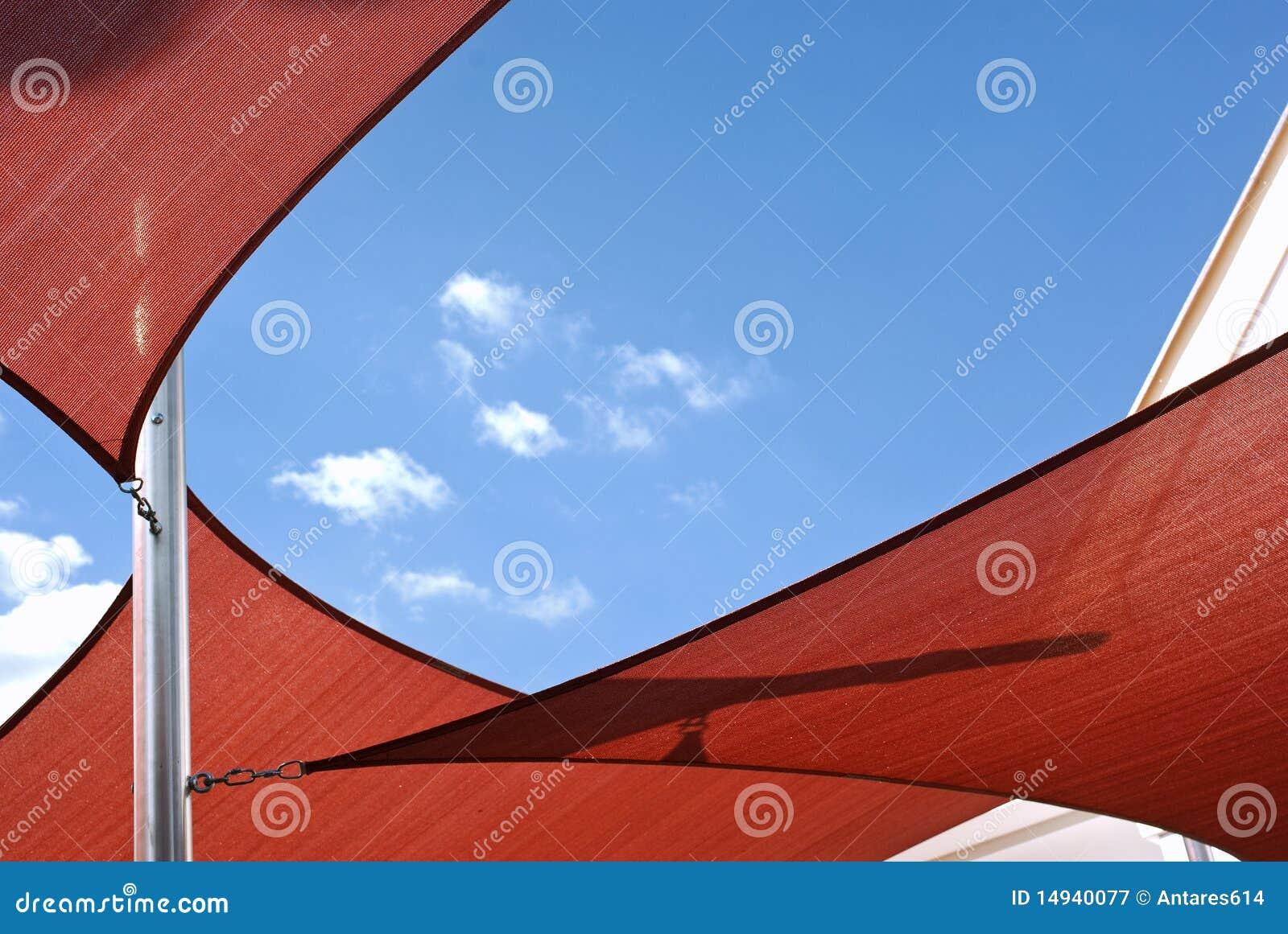 sonnenschutzsegel stockbild bild von farbton abdeckung 14940077. Black Bedroom Furniture Sets. Home Design Ideas