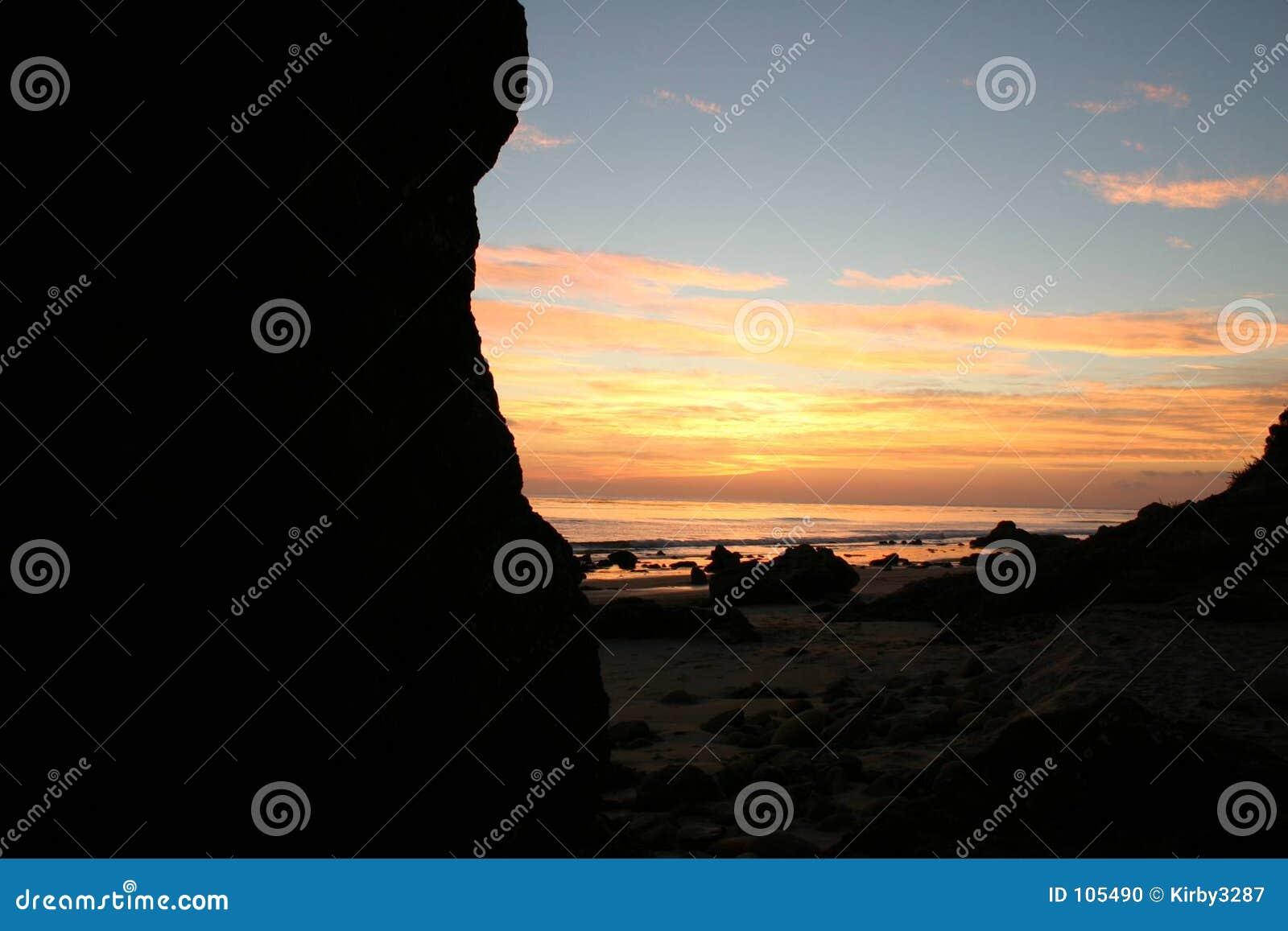 Am Sonnenuntergang