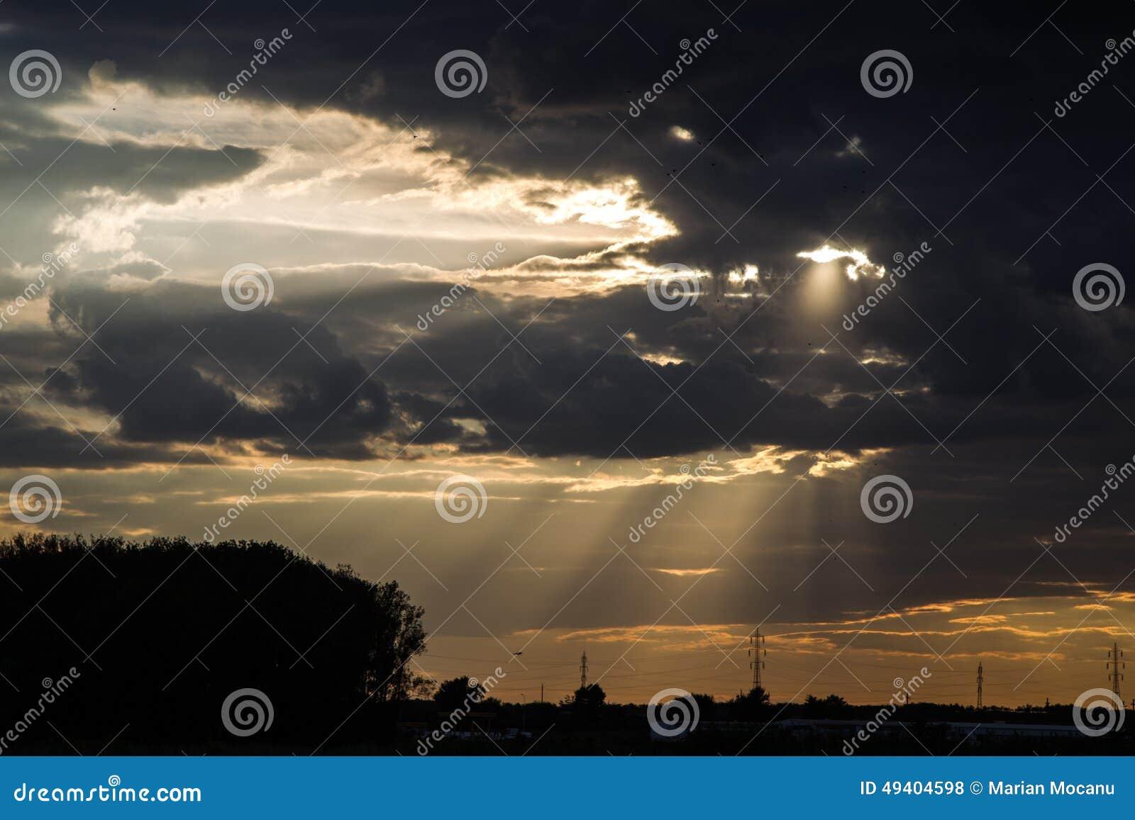 Download Sonnenuntergang stockfoto. Bild von gold, himmel, solar - 49404598