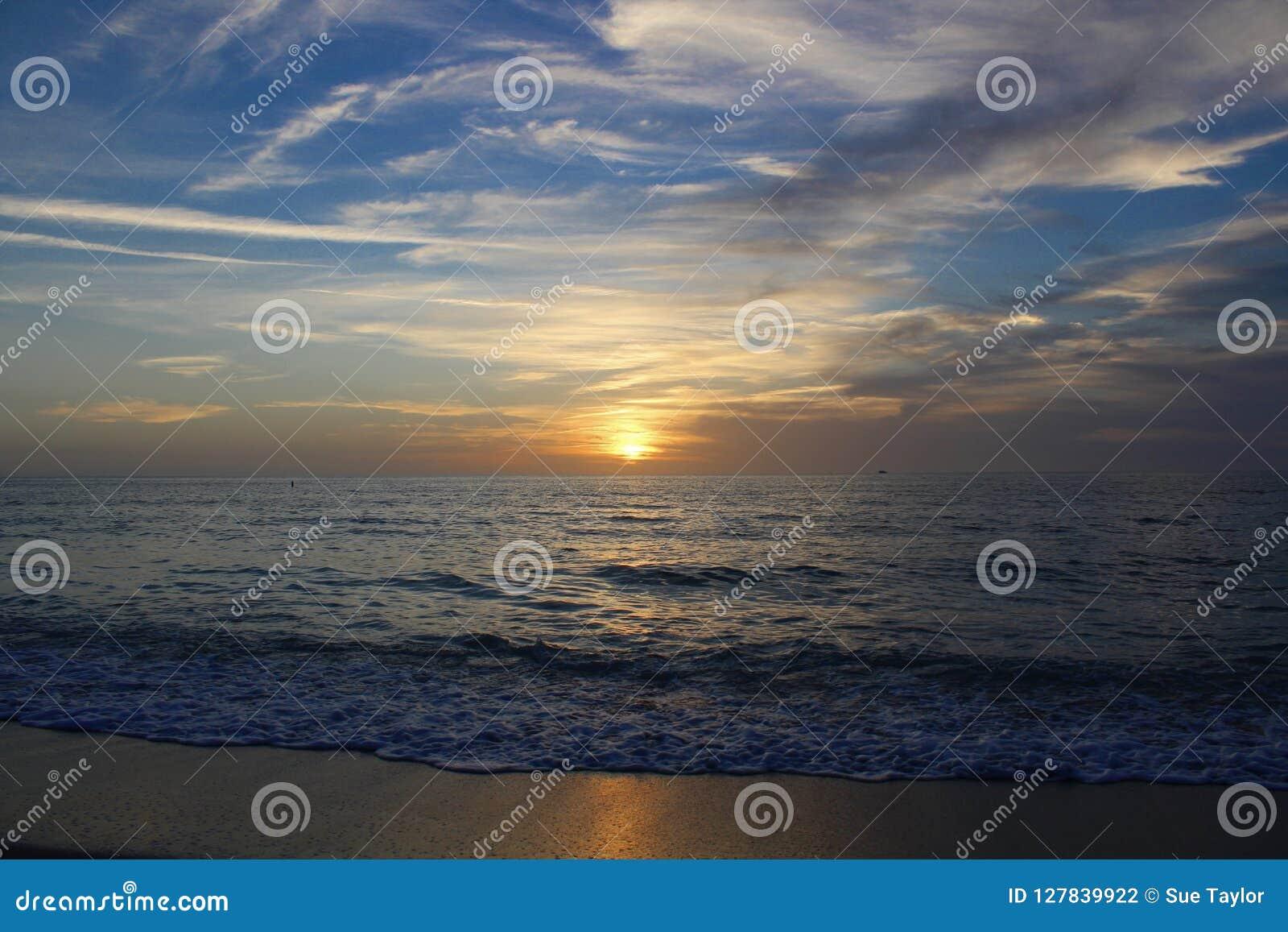 Sonnenuntergang auf der Golfküste in Florida