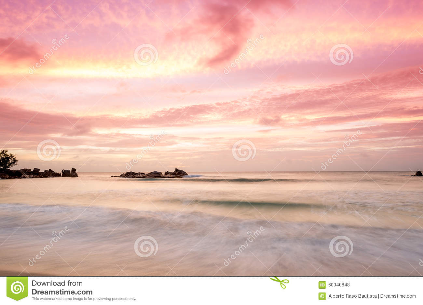 Sonnenuntergang auf Seychellen