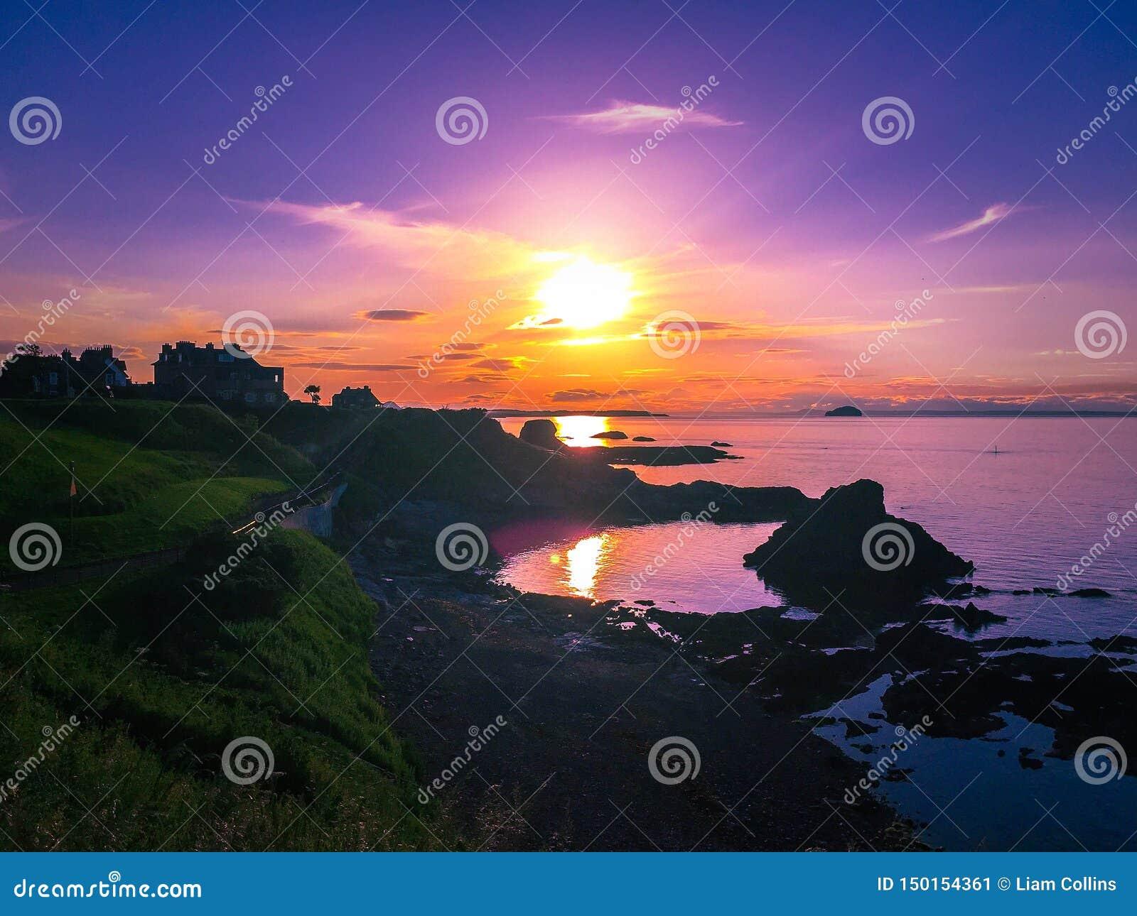 Sonnenuntergang bei Dunbar