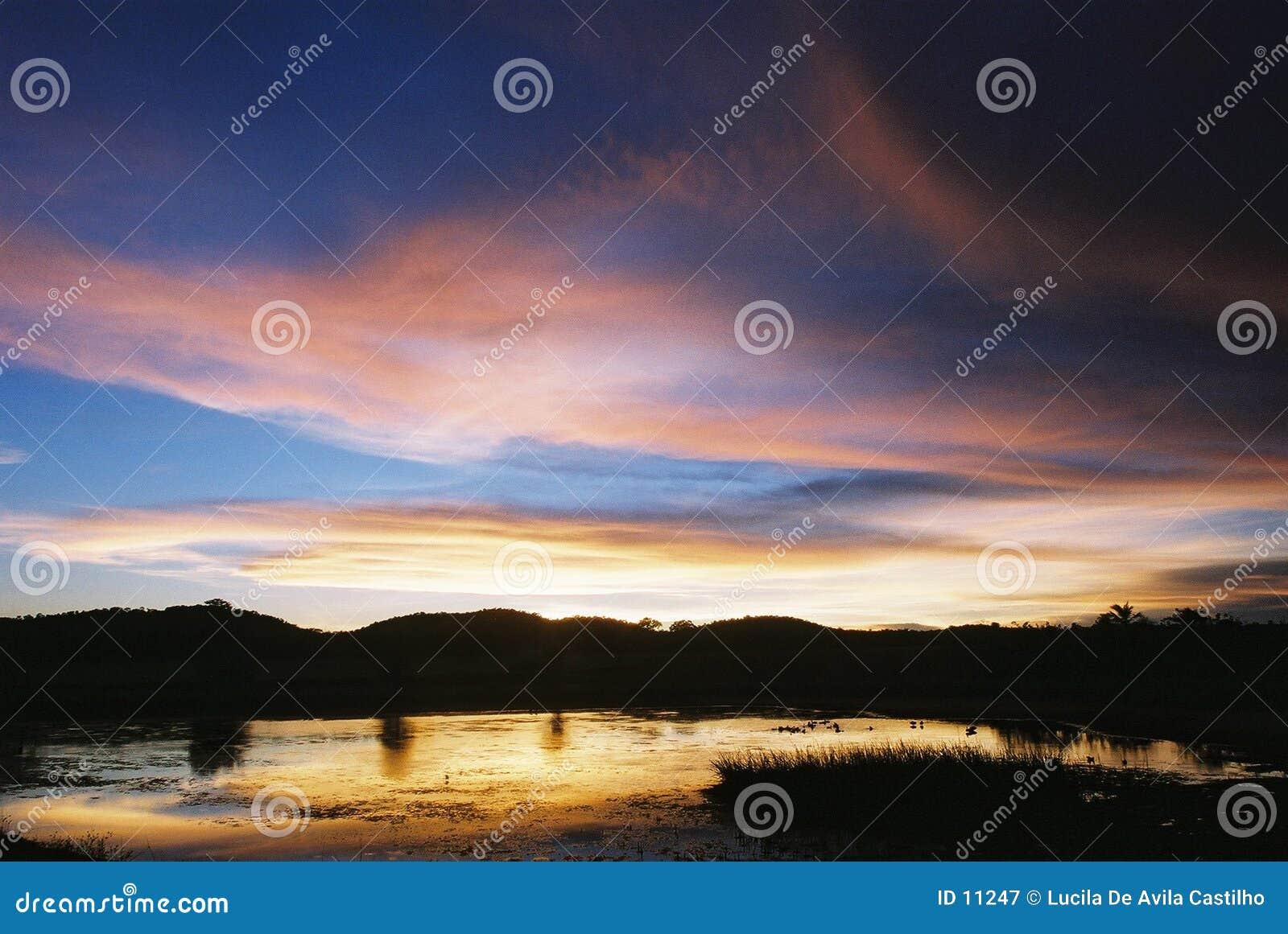 Sonnenuntergang am Blaufisch