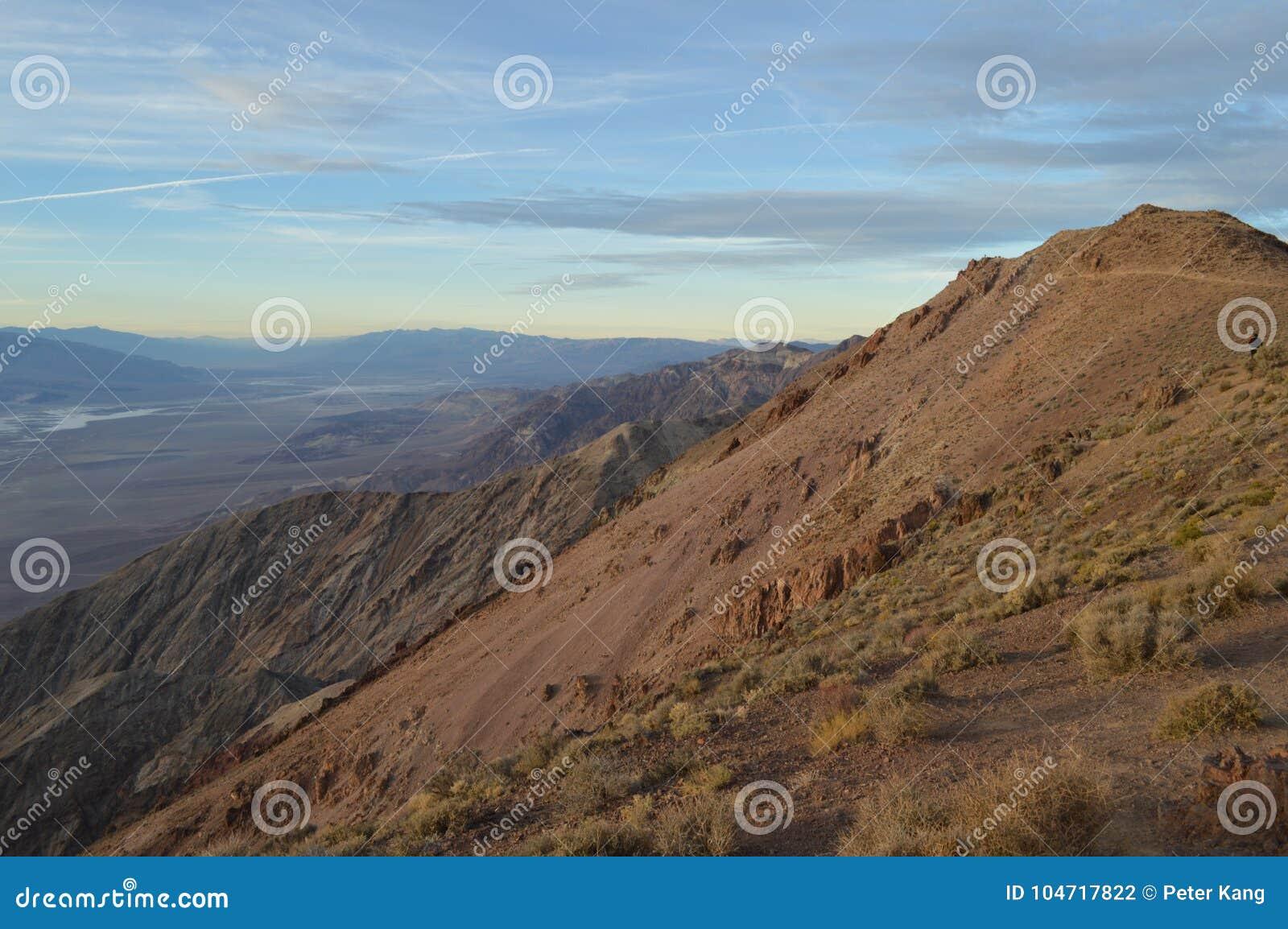 Sonnenuntergang an Dante-` s Ansicht in Death Valley Kalifornien
