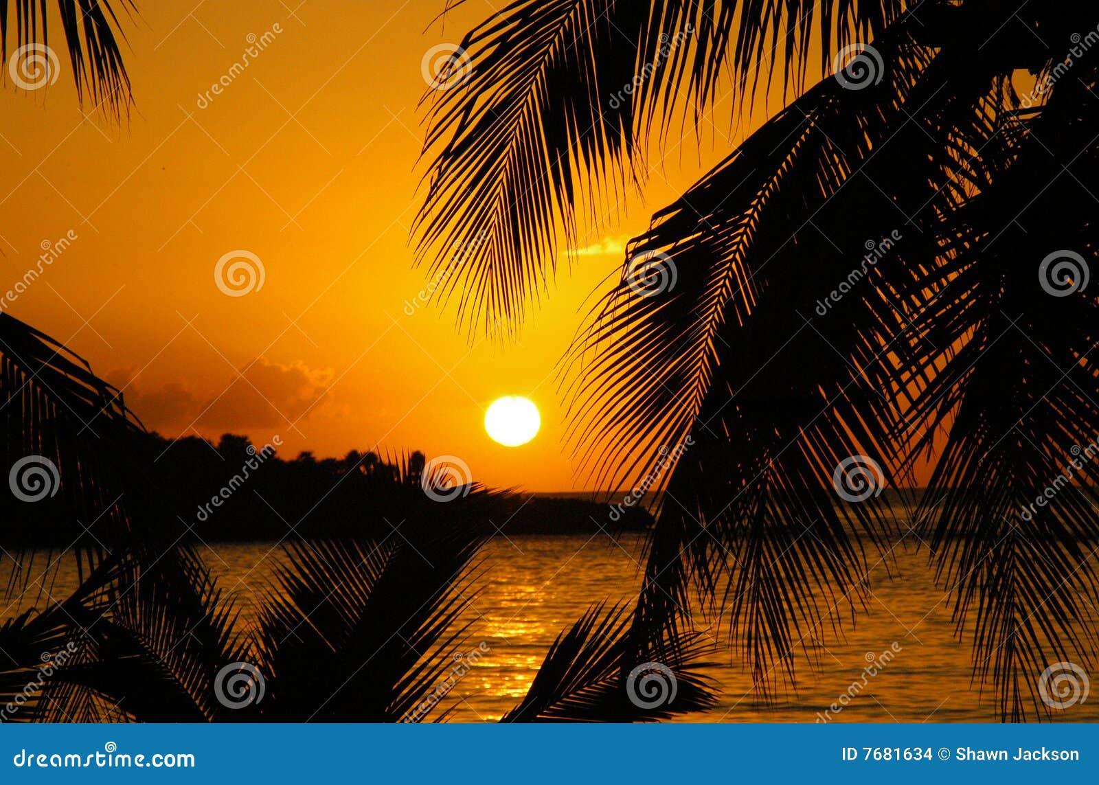 Sonnenuntergang in den Karibischen Meeren