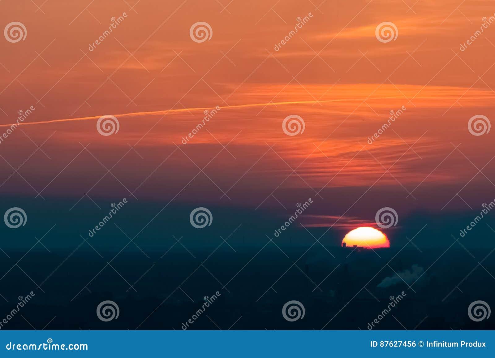 Sonnenuntergang an der Stadt von Riga