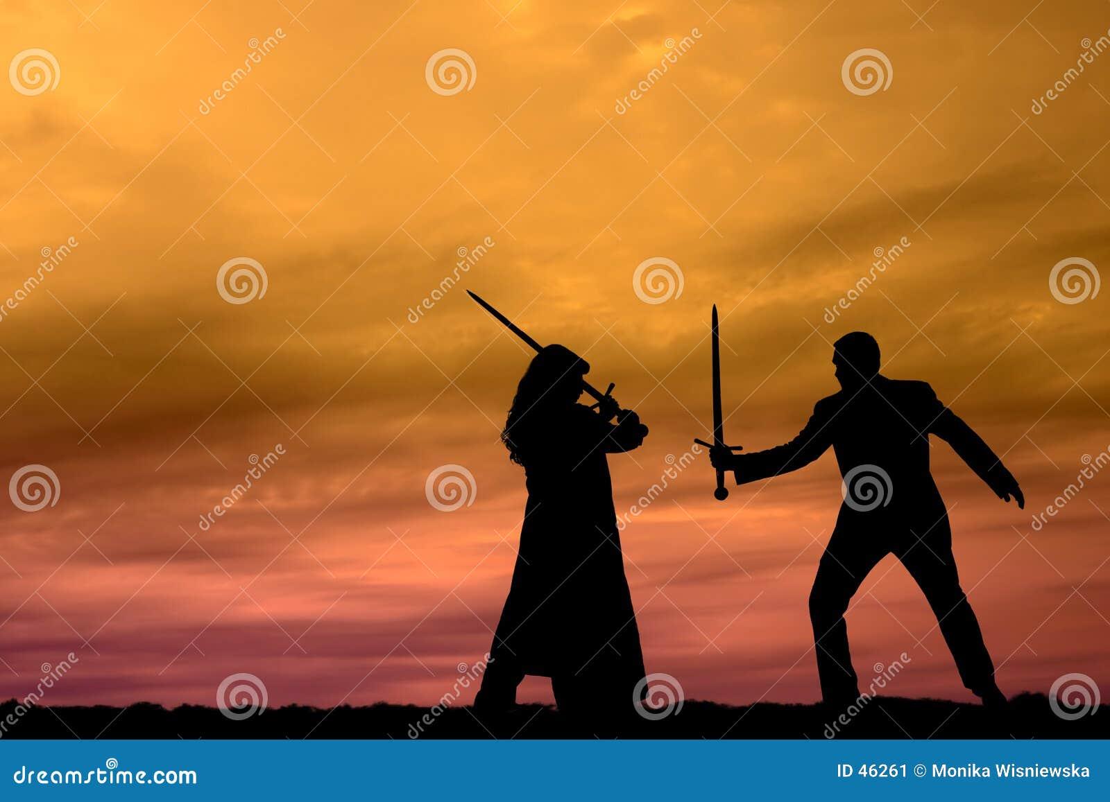 Sonnenuntergang-Krieger