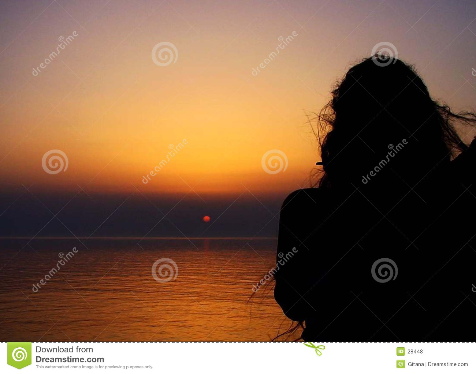 Sonnenuntergang mit Frauen